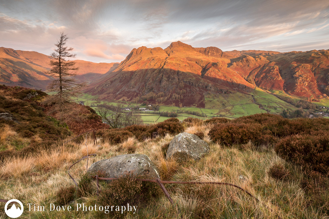 First Light on the Langdale Pikes