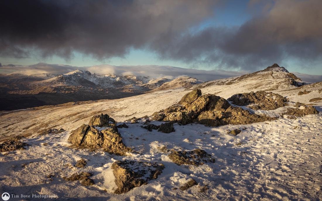 Dow Crag Winter Summit View