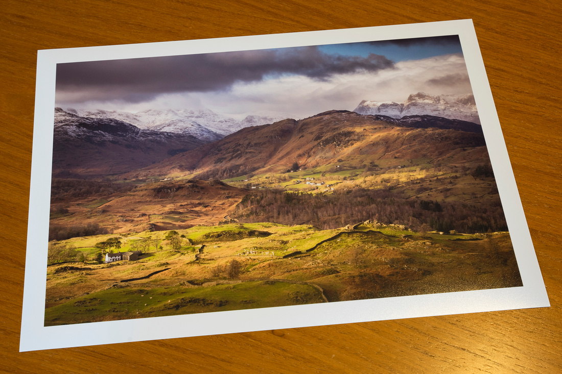 New Print added to the Shop - Black Fell - Langdale Winter View